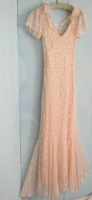 Gold vintage lame and dress pink