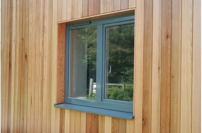 Aluminium windows cabin timber google search build for Window cladding