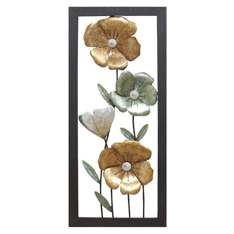 Stratton Home Decor Wall Hanging Flower Panel Art SHD0222 Products