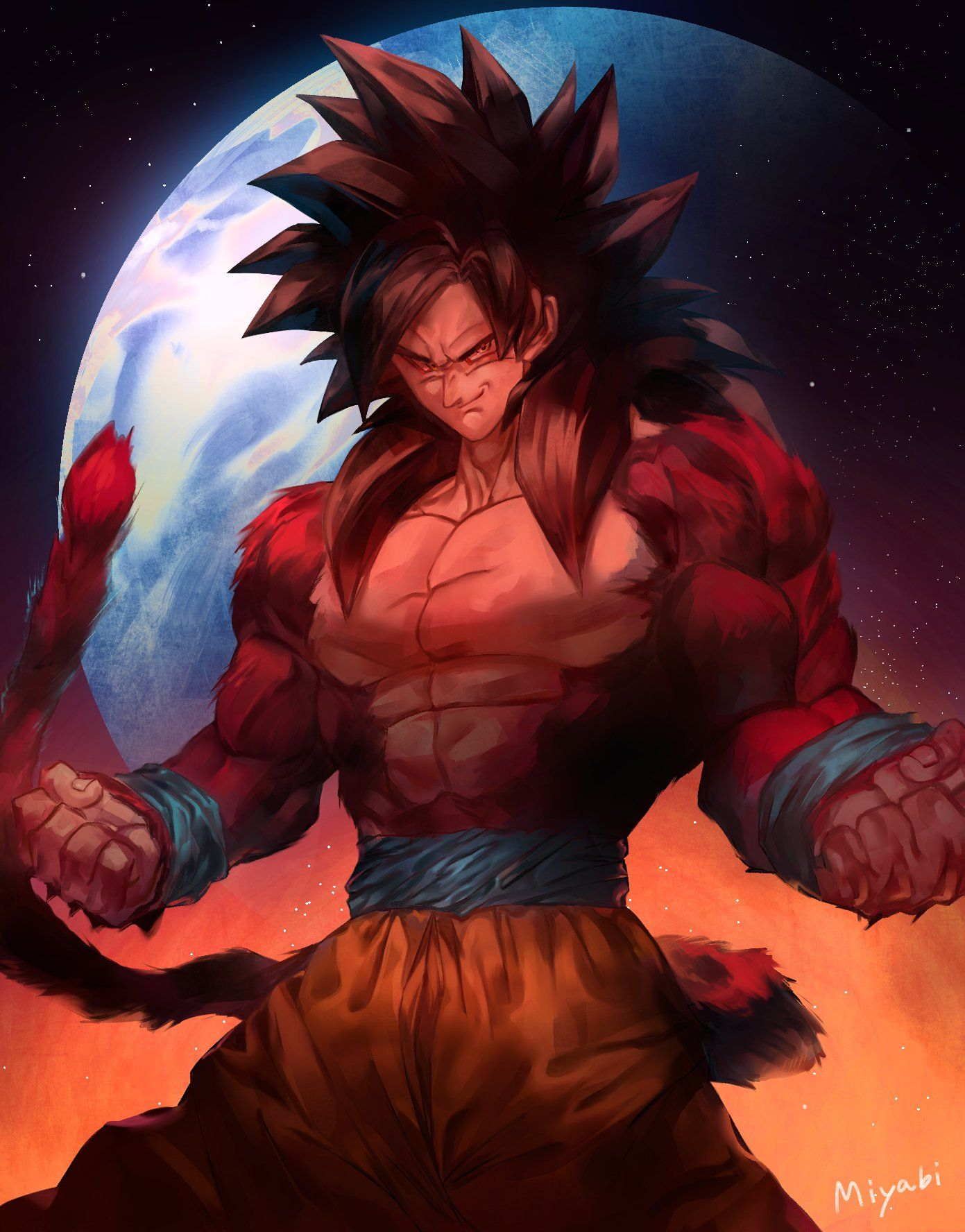 Goku Super Saiyajin 4 Anime Goku Desenho Super Sayajin