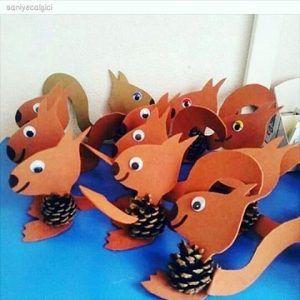 Pine Cone Squirrel Craft Idea Fall Crafts For Kids Crafts