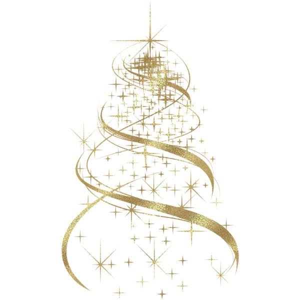 Transparent Golden Christmas Tree Decoration PNG Clipart Liked On Polyvore Featuring Home Decor