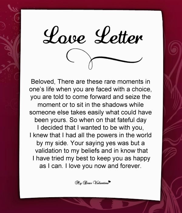 Love Letter For Her    Things I Love    Poem Sweet