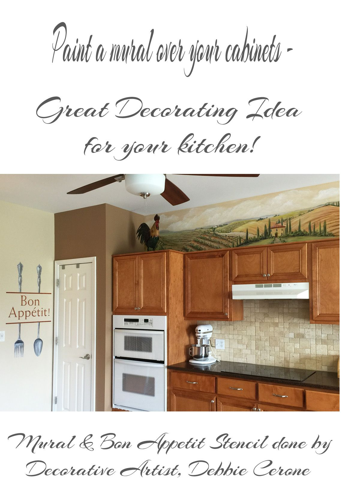 Art Ideas By Debbie Cerone Kitchen Design Mural Stencil Chicago Murals