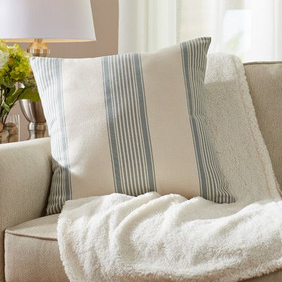 Three Posts Loom and Mill Newport Throw Pillow and throw