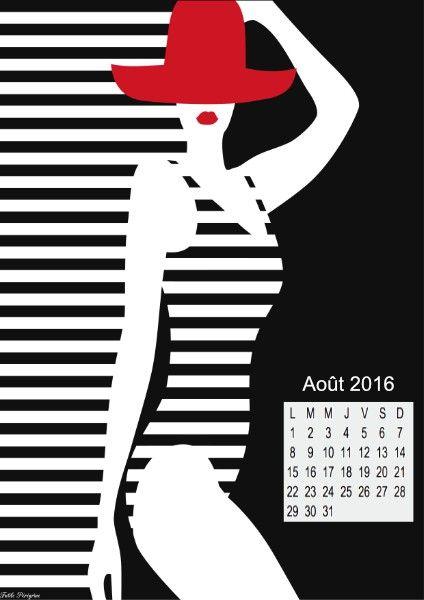 Les calendriers du mois d'août à imprimer –