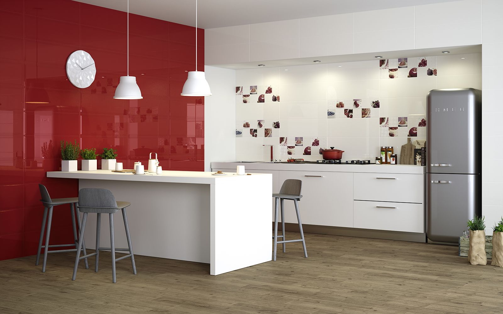 Piastrelle Cucina: idee e soluzioni in ceramica e gres - Marazzi ...