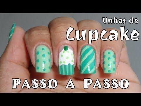 How To Do Cupcake Nail Art Makeup Nails Pinterest Cupcake