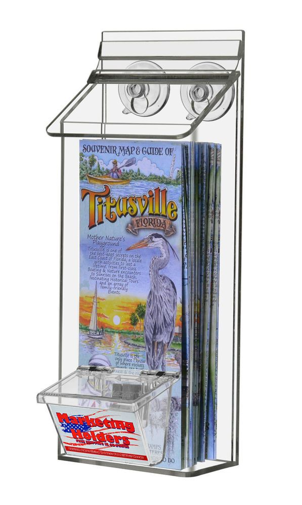 Outdoor 4 X 9 Brochure Pamphlet Holder With Suction Cups Card Holder Marketingholders Holder Cards Suction Cupping