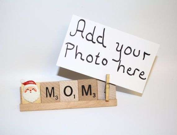 Mom Christmas Mom Gift, Grammy Christmas, Mom Photo, Santa Photo ...