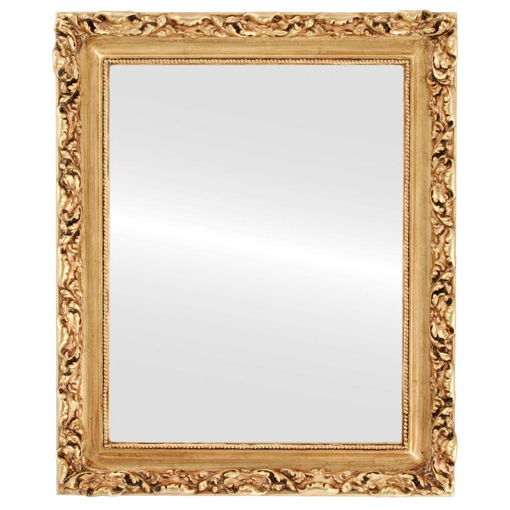 Vintage Style Gold Leaf Mirror Frame Rectangle Mirror Gold Mirror Wall Framed Mirror Wall