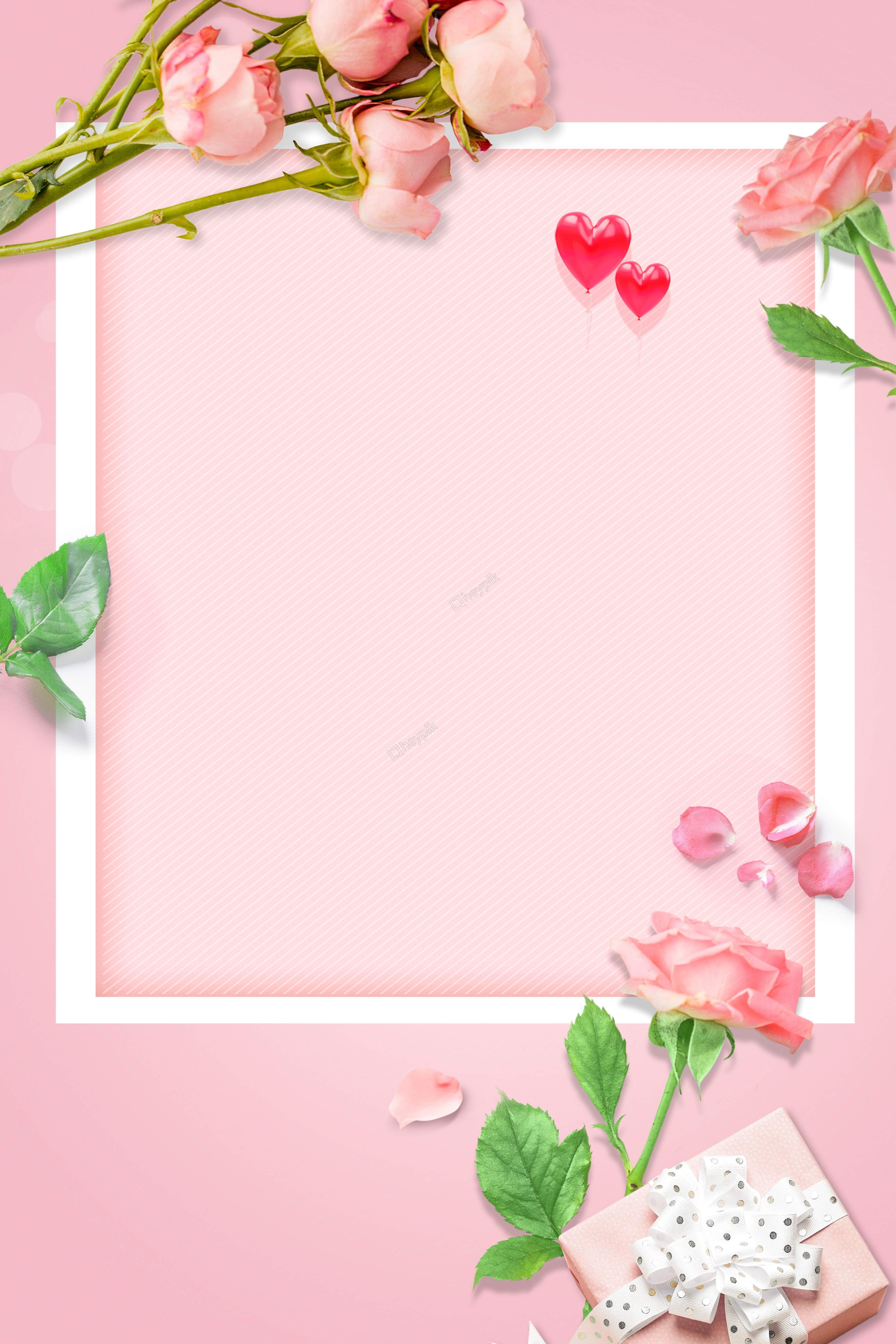 Love Carnations Love Border Pink Background Vector Floral Background Flower Background Wallpaper Flower Background Images