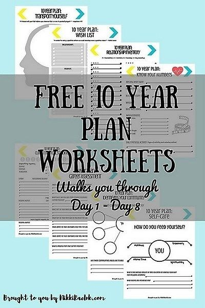 Free 10 Year Plan Worksheets 10 Years Lead Magnet And Magnets
