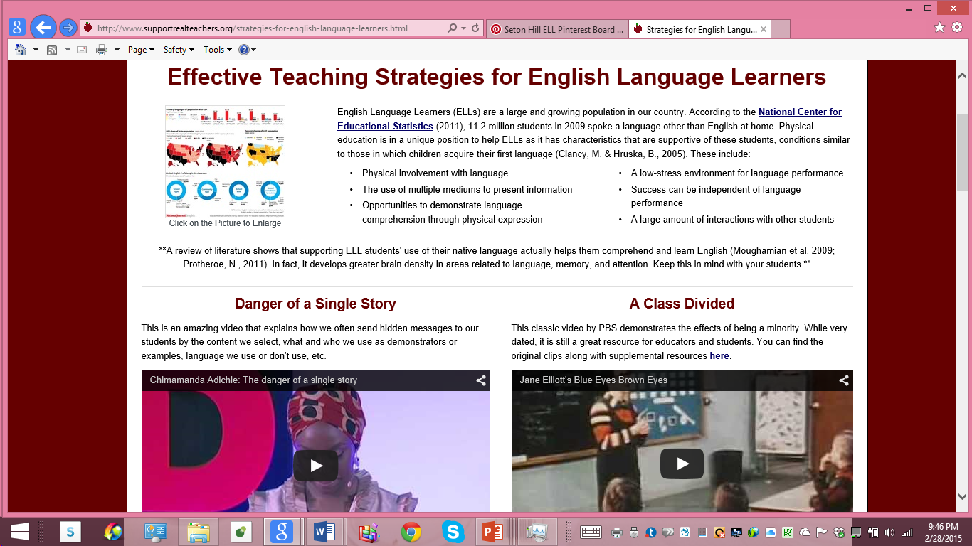 Instructional Strategies For Teachers Of Ells This Websites Provides Explanations Of Sdaie Specially Designed English Language Learners Teaching Strategies Instructional Strategies