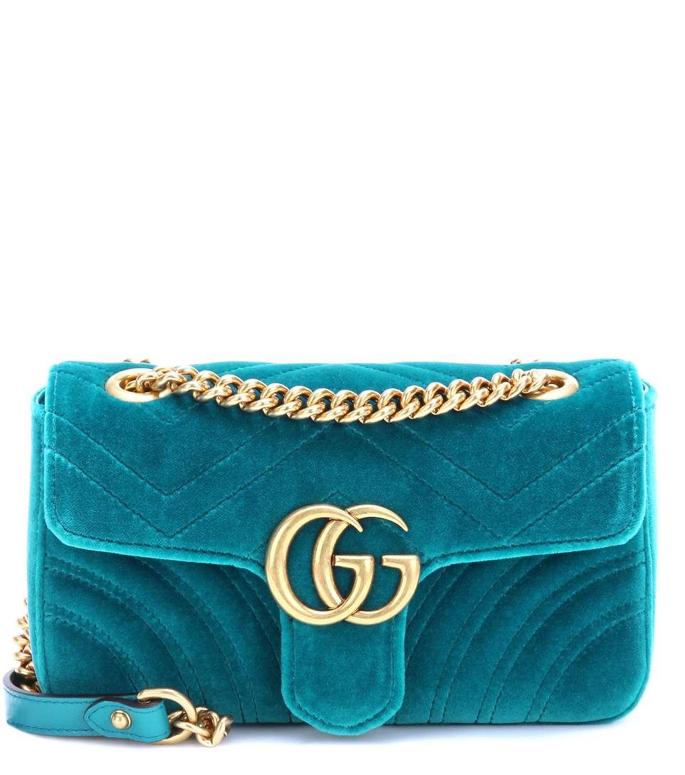 11fb68136059bc GUCCI Gg Marmont Mini Velvet Shoulder Bag. #gucci #bags #shoulder bags  #leather #velvet #lining #