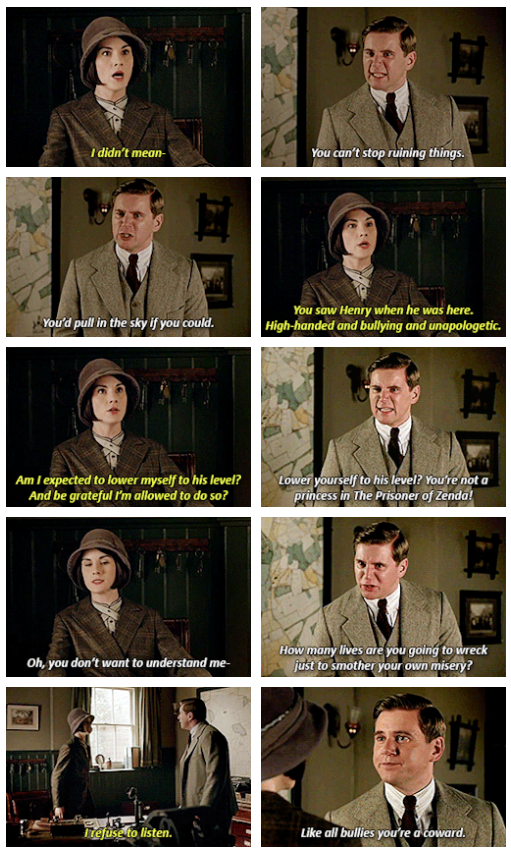 """""""Well, you got what you wanted, Bertie's left for the train and now Edith won't be the next Marchioness of Hexam."""" -Tom .. Downton Abbey Last Season.."""