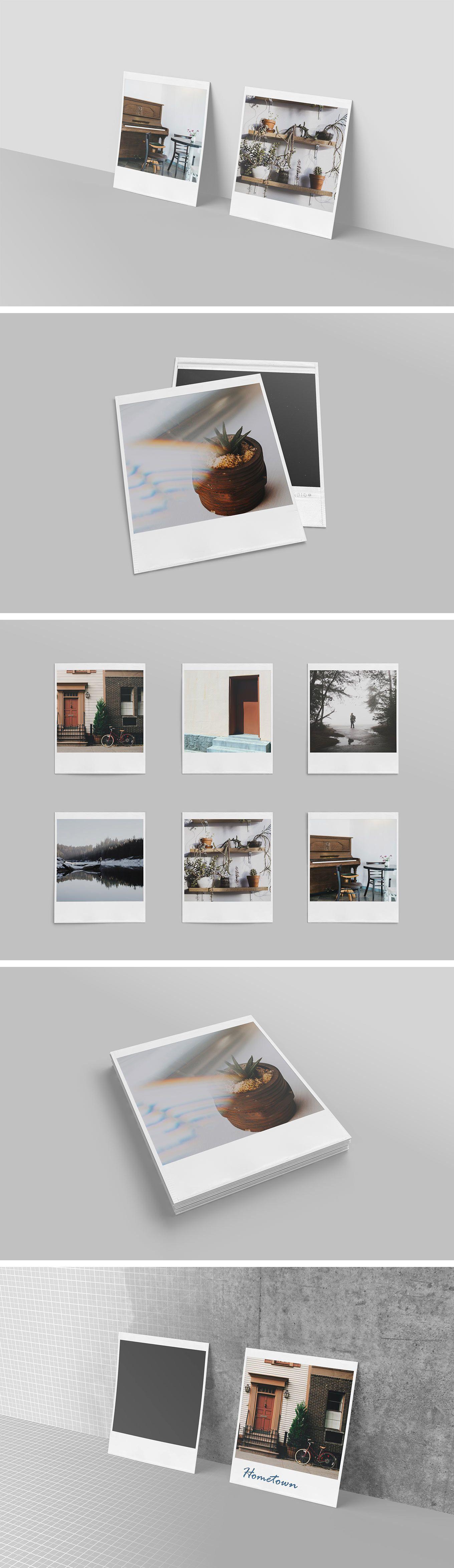 Realistic Polaroid Mockup Set Mockup Mockup Free Psd Free Mockup
