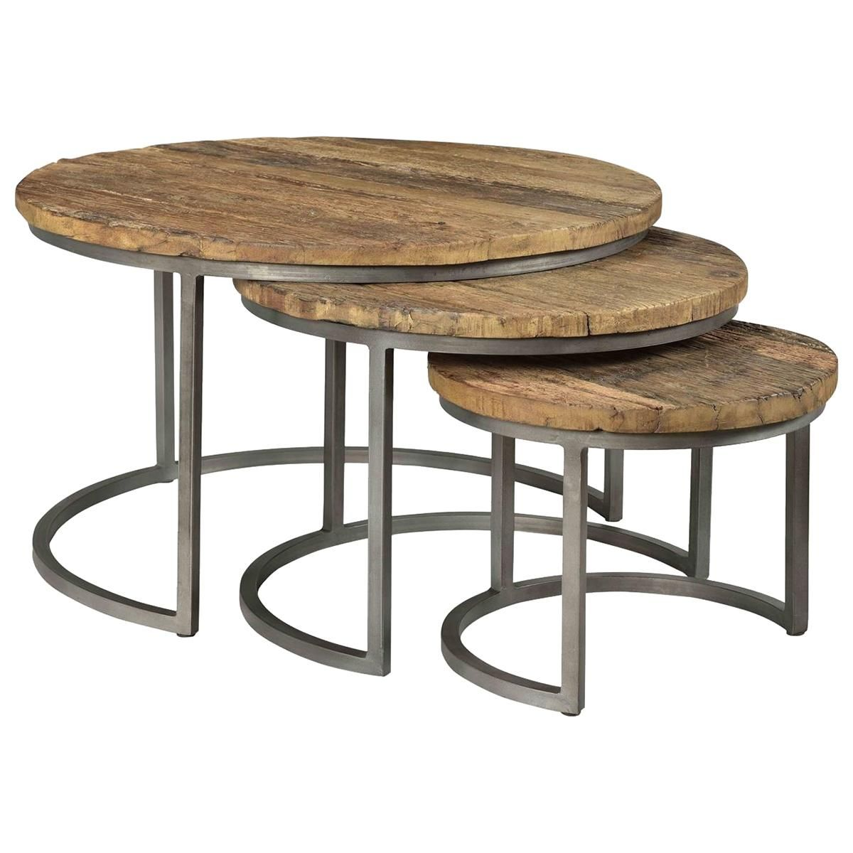 Shannon Hills Tania 3 Piece Set Of Nesting Tables In Rustic Saal And Bronze Nfm Nesting Coffee Tables Nesting Tables Coffee Table [ 1200 x 1200 Pixel ]