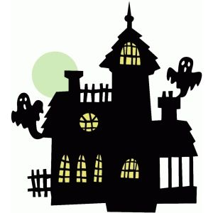 Silhouette Design Store: Haunted House   Halloween ...