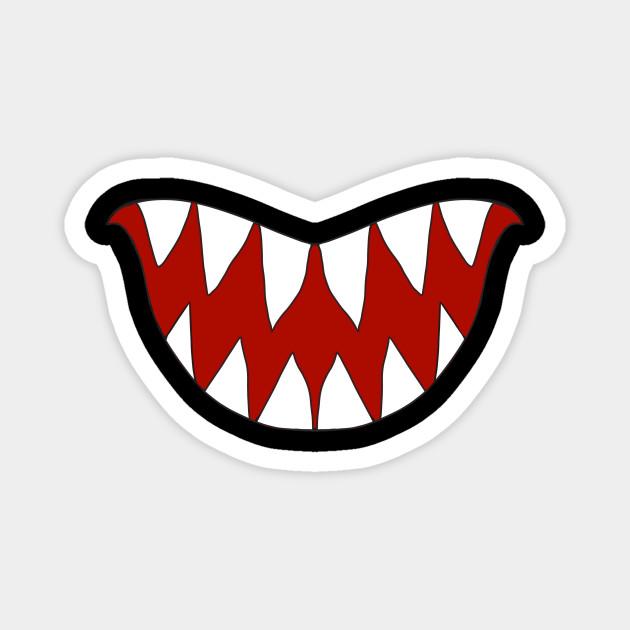Funny Cartoon Monster Big Sharp Teeth Smile Teeth Magnet Teepublic Funny Monstersmile Cartoony Cartoonmonster Sharpteeth S Cartoons Funny Magneten