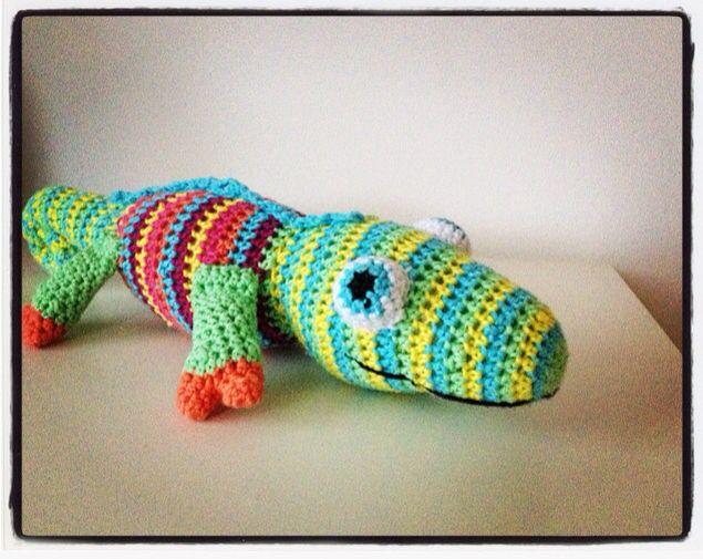 Ron Kameleon gehaakt.  Crochet.