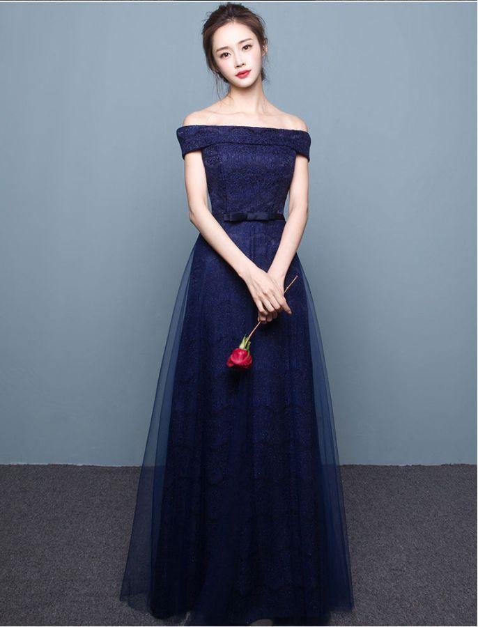 d2d32bb83eff Vintage Inspired Off Shoulder Elegant Lace Prom Formal Dress