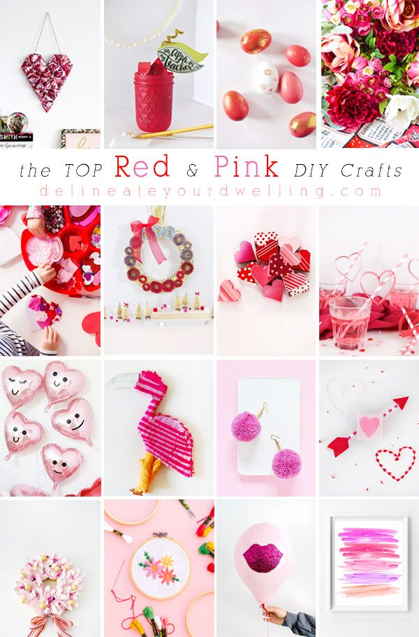 The Top Red And Pink Diy Crafts Diy Bloggers Pinterest Crafts