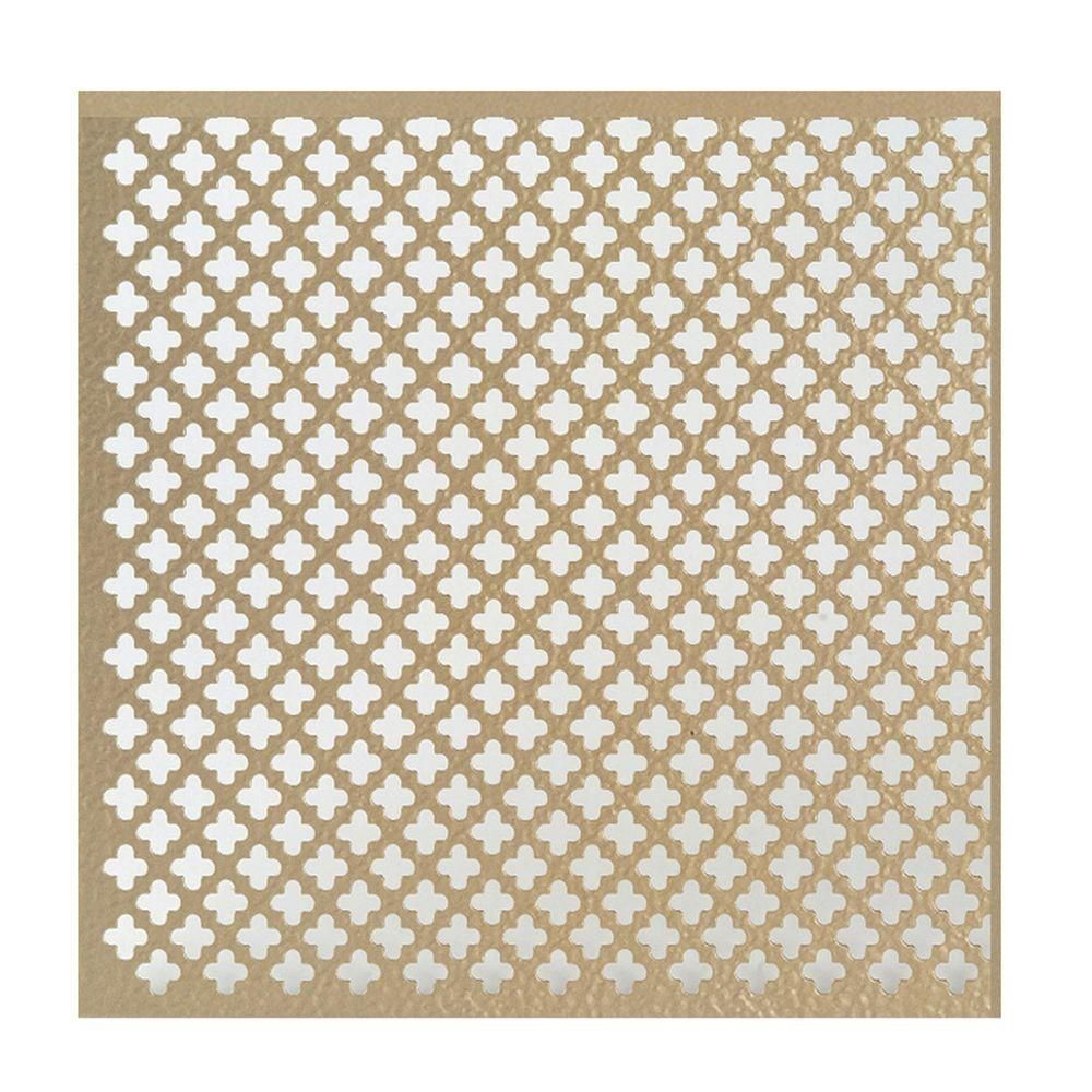 M D Building Products 24 In X 36 In Cloverleaf Aluminum Sheet In Brass Aluminium Sheet M D Building Products Tongue And Groove Walls