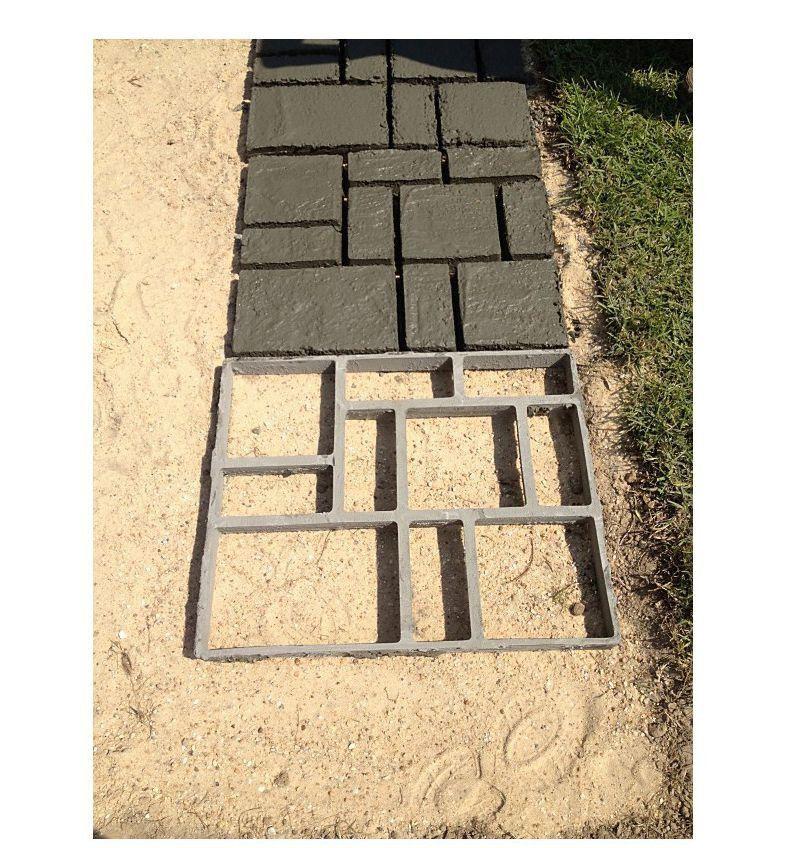4Pc Pathway Walkway Maker DIY Betonformen Wiederverwendbare Kunststoff Path