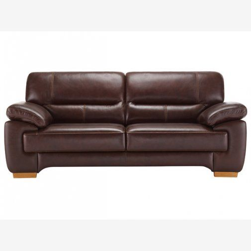 Clayton 3 Seater Sofa in Brown Leather   Sofa\'s & Chair\'s   Sofa, 3 ...