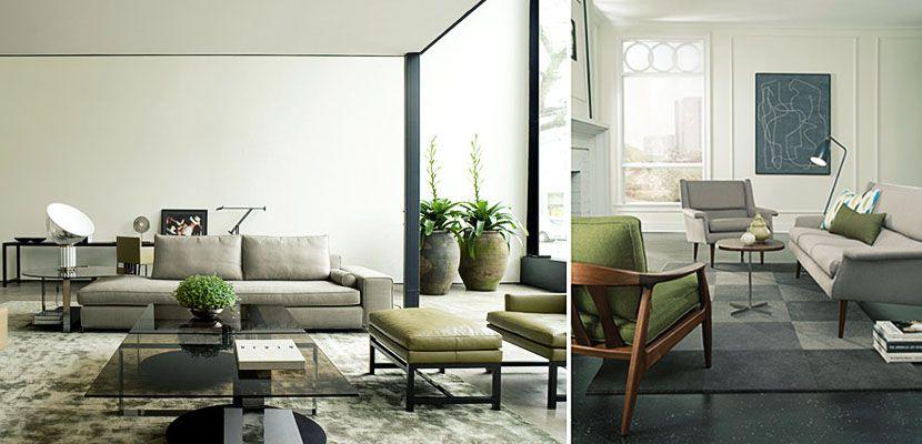 Salones decorados en gris y verde | Salons