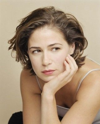 Maura Tierney. Striking brown (hazel?) eyes - it's easier for hooded eyes to stand out when they're bright blue like a lot of the others.