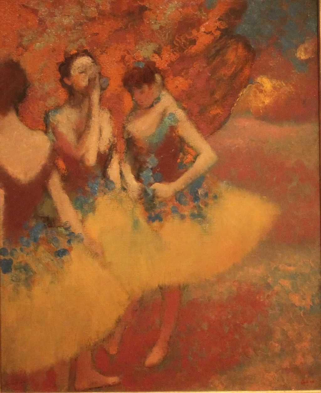 Three Dancers in Yellow Skirts Edgar Degas - Edgar Degas - Wikipedia, la enciclopedia libre