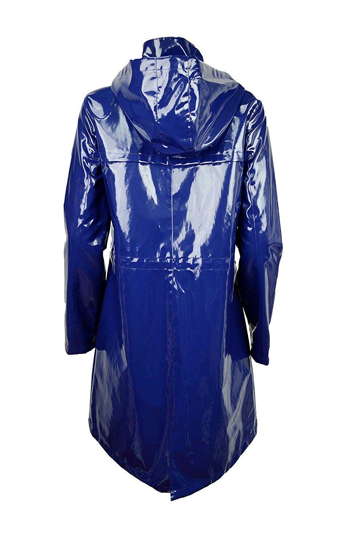 Women's Zip Front Long Sleeve Hooded Molly Coat Tanzia Blue