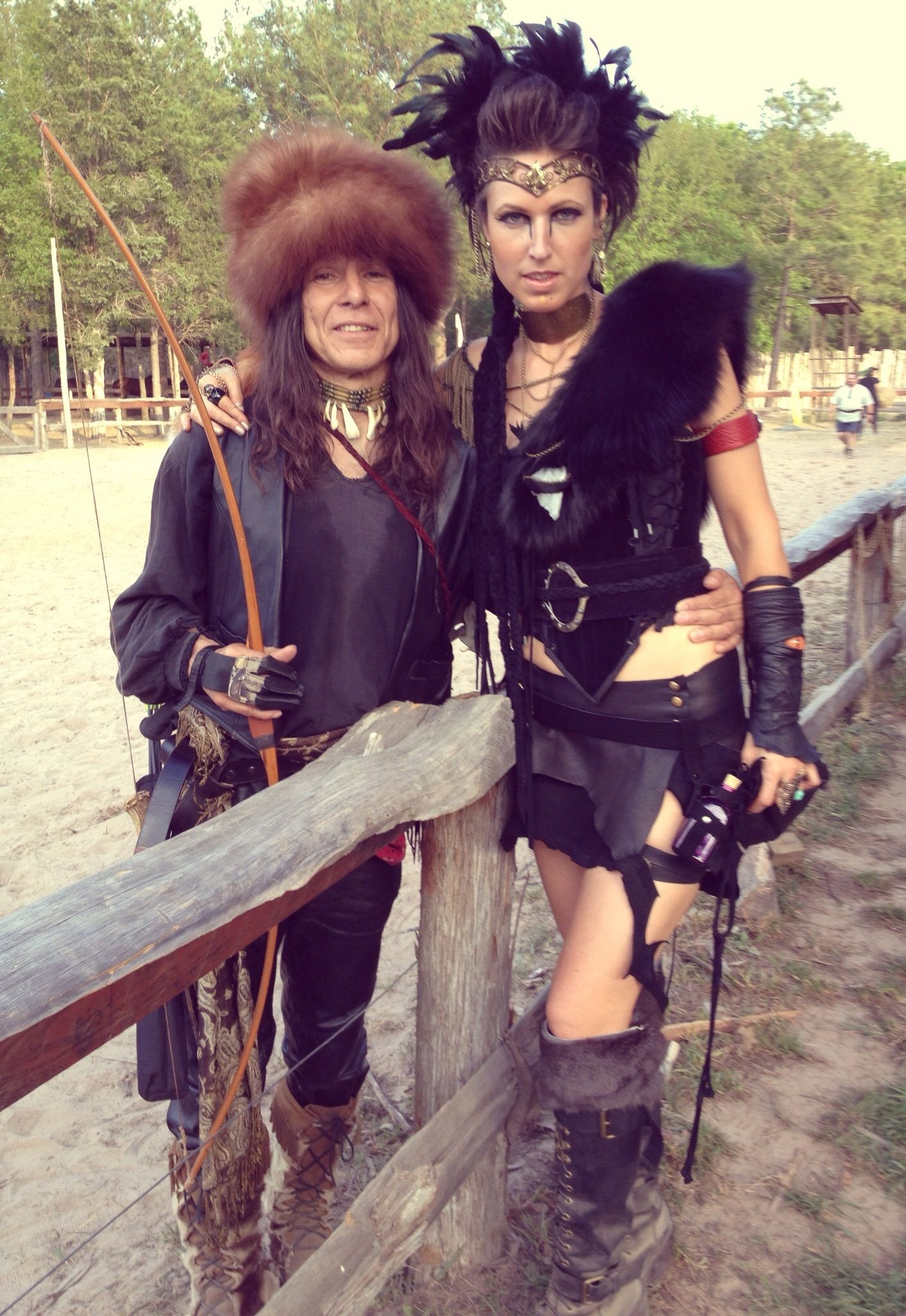 Sherwood Forest Faire, Texas Renaissance Festival, Renaissance Festival, Medieval, Warrior Princess, Queen, Armor, Metal, Jewels, Makeup, Leather, Feathers, Fur, Period Costume Creations by HexHeartHollow