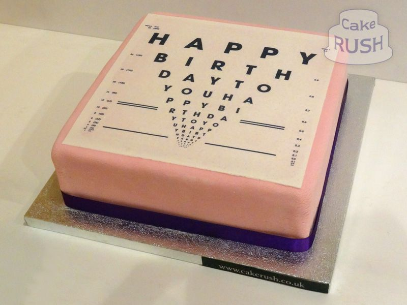 LogMAR vision chart cake | Cakes n cookies in 2019 | Cake