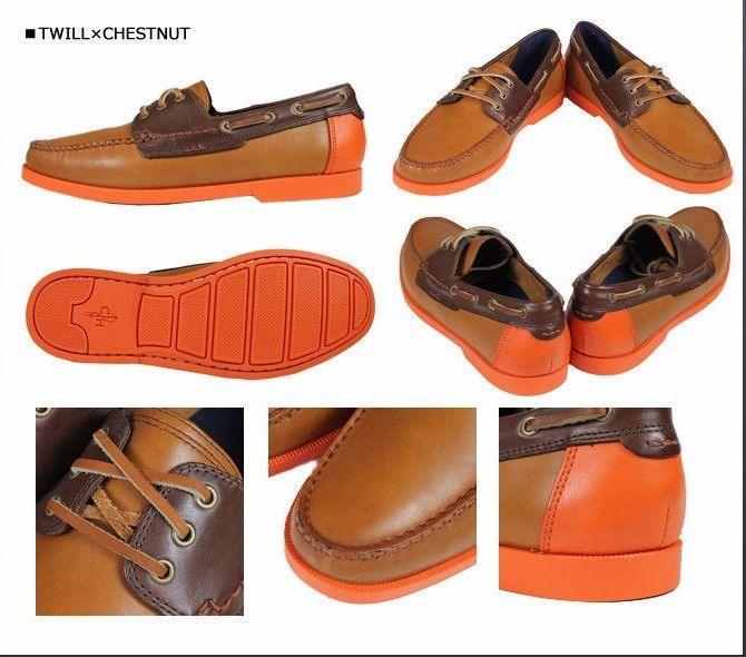 $230 Cole Haan Fire Island Boat Shoes Mens Leather 9.5 M Spring / Summer.  Brown