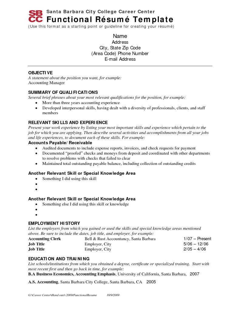 Functional Resume Functional resume, Executive resume