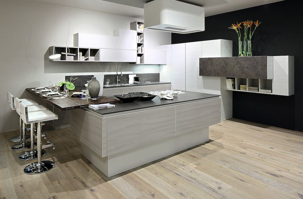 Mango la cucina in techniplan composizione formata da - Cucine ad angolo con penisola ...