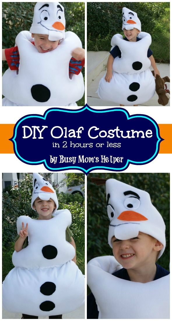 69c3cc6e6372 DIY Olaf Costume in 2 Hours or Less / by Busy Mom's Helper #Frozen - So  easy!!!