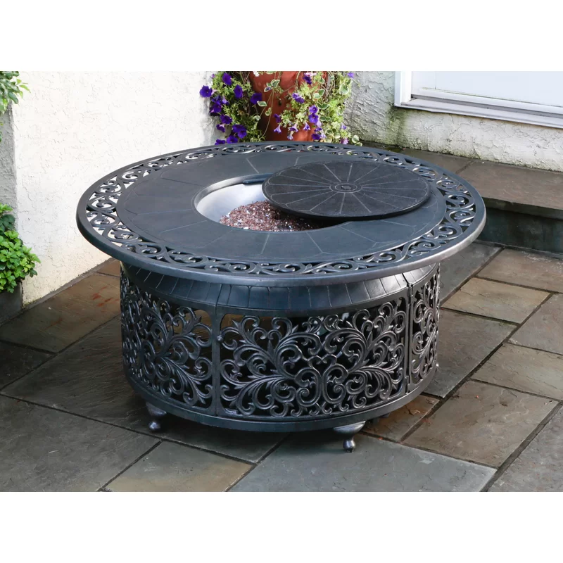 Eyers Aluminum Propane Fire Pit Table In 2020 Round Propane Fire Pit Outdoor Fire Pit Designs Fire Pit Table Set