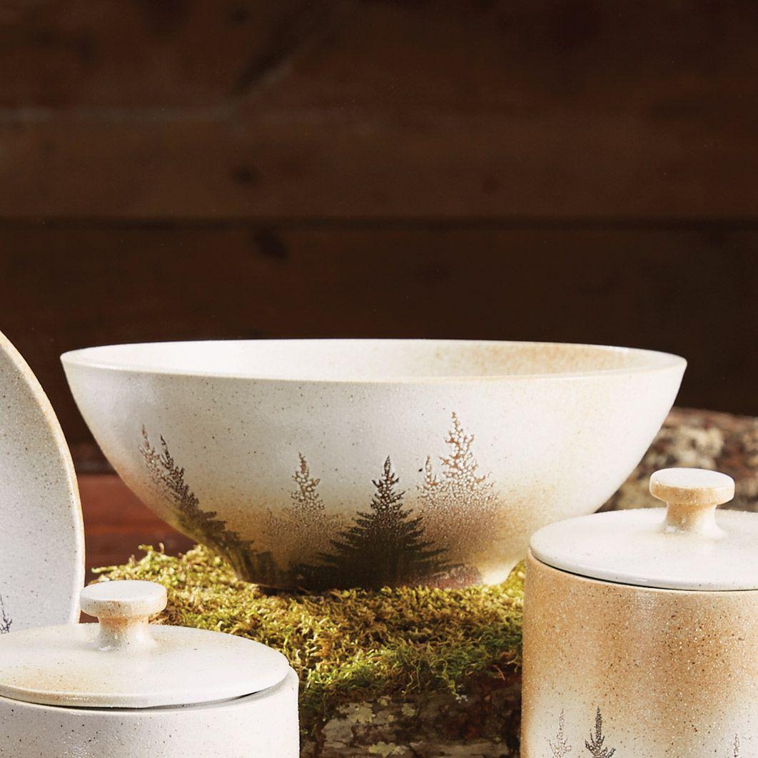 Pinewood forest serving bowl cabin living pinterest black