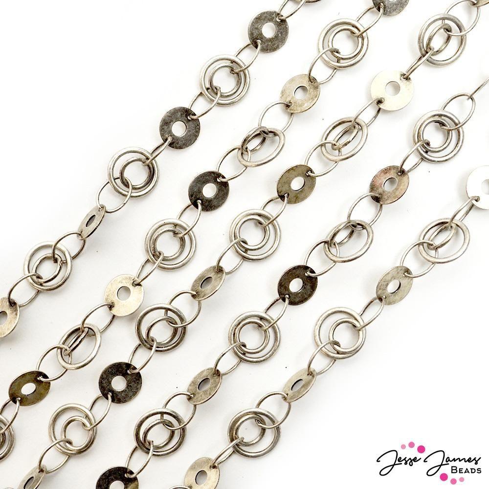 Psycedelic Chain in Silver in 2020 Chain, Silver chain