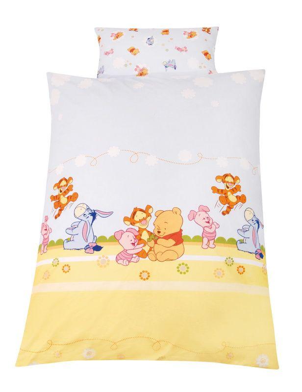 Wende  Kinderbettwäsche Baby Pooh And Friends, Linon, 100 X 135 Cm, Disney Winnie  Puuh Awesome Design