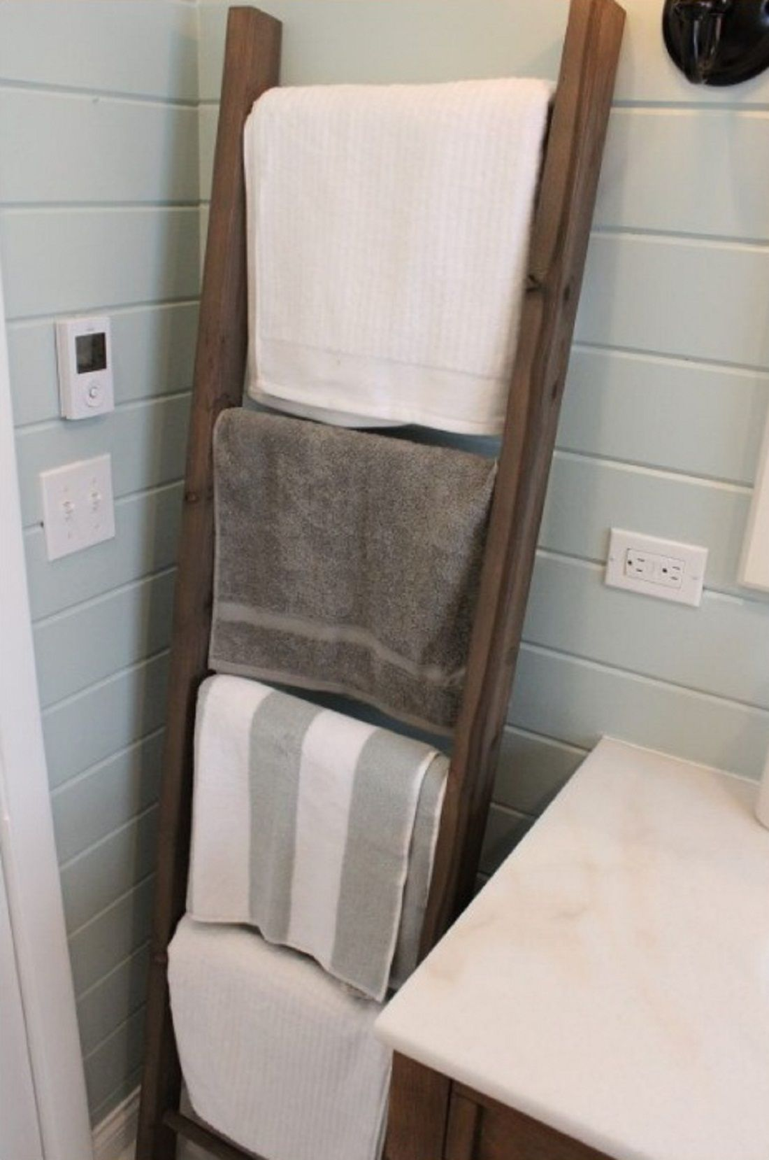 How to build a rustic towel ladder my home decor guide home