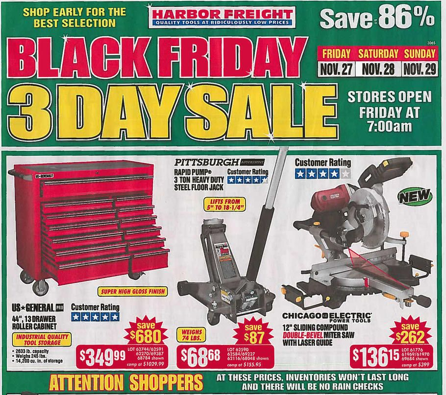 Harbor Freight Black Friday Sale 2015 Black friday ads