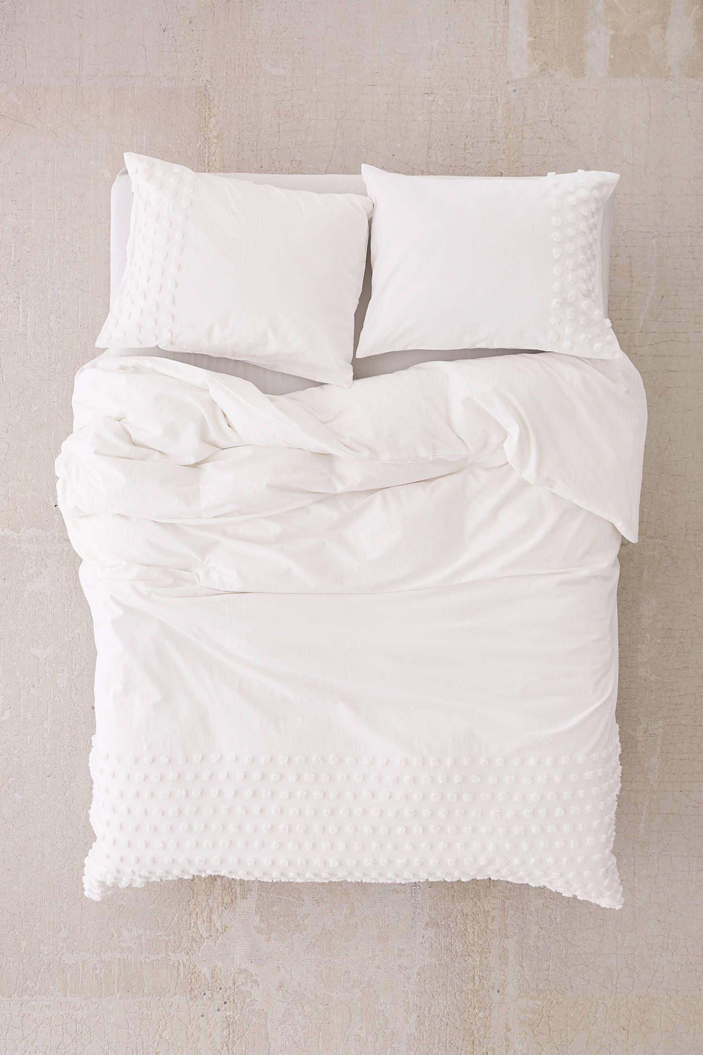 Tufted Dot Duvet Cover Luxury Duvet Covers Duvet Bedding White