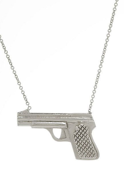 Heart Necklaces Gun Necklace, I want this