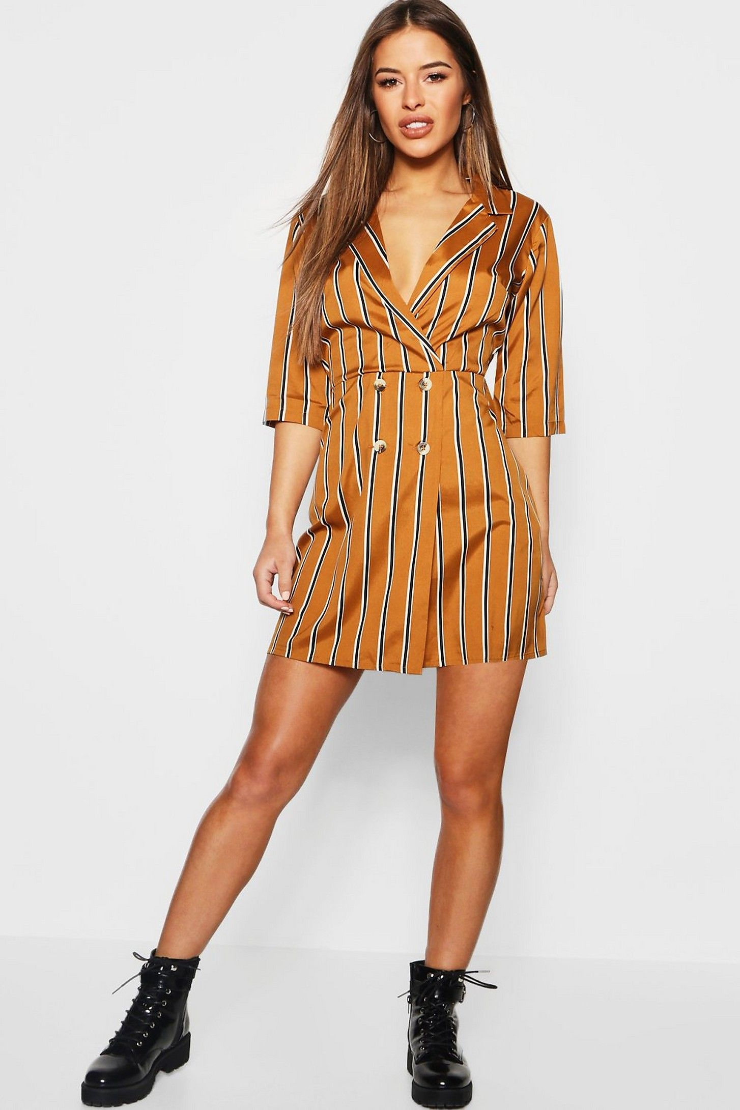 4c60ef1cb05e Petite Button Detail Striped Dress in 2019 | #NayDay gifts | Dresses ...