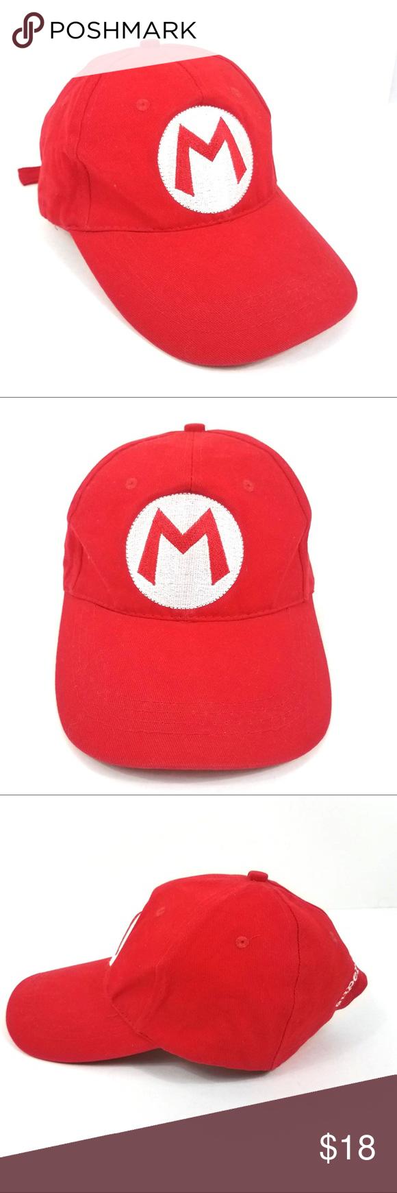 Super Mario Bros Red Adjustable Hat Cap Unisex Adjustable Hat Super Mario Bros Unisex